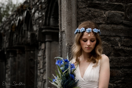 Ireland - Jerpoint Abbey - Marina Bridal Bride Irish Ruins Woman Wedding Photography-27