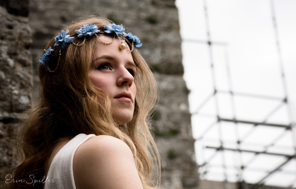 Ireland - Jerpoint Abbey - Marina Bridal Bride Irish Ruins Woman Wedding Photography-3